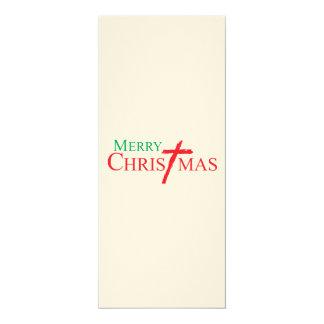 Felices Navidad con la cruz de los sellos del Comunicado Personal