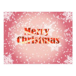 Felices Navidad con los copos de nieve y la postal