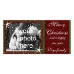 Felices Navidad con nieve Tarjeta Personal Con Foto