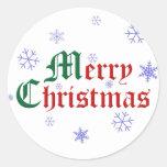 Felices Navidad - copo de nieve Pegatinas