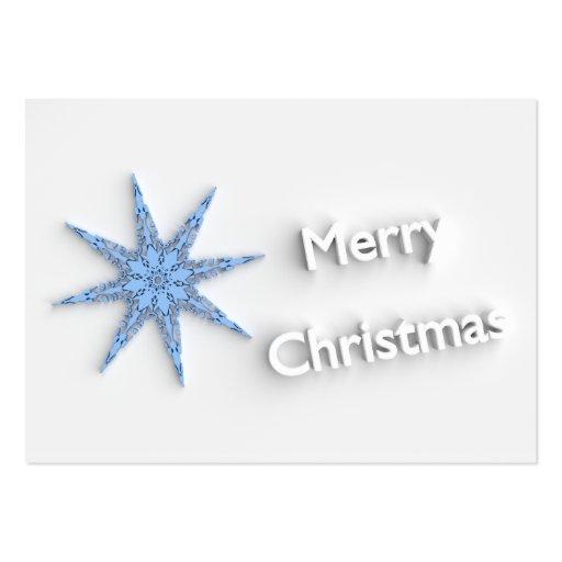 Felices Navidad - copo de nieve - tarjeta de Tarjetas De Visita Grandes