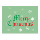 Felices Navidad - copos de nieve Postales