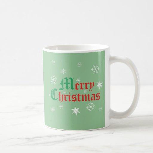 Felices Navidad - copos de nieve Tazas De Café