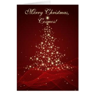 ¡Felices Navidad, cosmos! Tarjeta De Felicitación