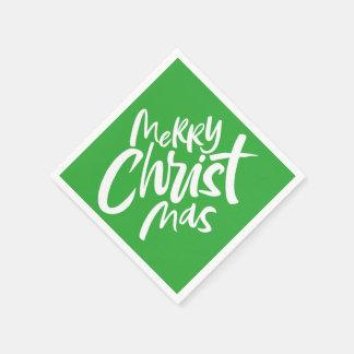 Felices Navidad cristianos que ponen letras a Gree Servilleta De Papel