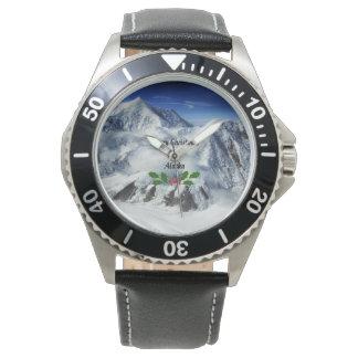 Felices Navidad de Alaska Relojes De Pulsera