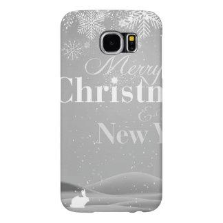 Felices Navidad de B&W y Feliz Año Nuevo Funda Samsung Galaxy S6