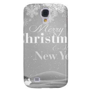 Felices Navidad de B&W y Feliz Año Nuevo Funda Samsung S4