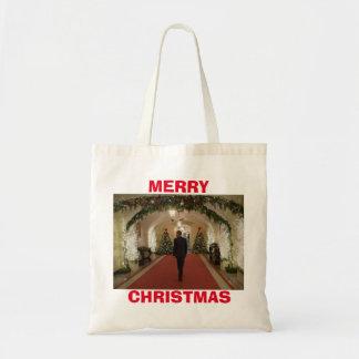 Felices Navidad de Barack Obama - Bolsa Tela Barata