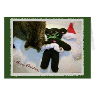 ¡Felices Navidad de Bearette del peluche! Tarjeta De Felicitación