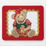Felices Navidad de Beary - peluche del chica Tapete De Ratones