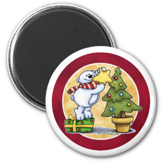 Felices Navidad de Beary - primer navidad Imán De Frigorífico