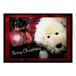 Felices Navidad de Beary Felicitaciones