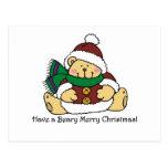 Felices Navidad de Beary Tarjeta Postal