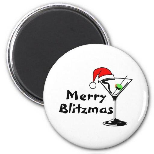 Felices Navidad de Blitzmas Imán