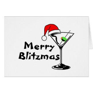 Felices Navidad de Blitzmas Tarjeta De Felicitación