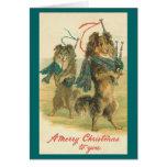 ¡Felices Navidad de Collie* del *Mini del vintage! Felicitación