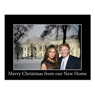 Felices Navidad de Donald y de Melania Postal