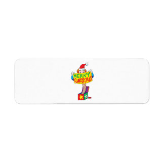 Felices Navidad de encargo Jack en un Pin del Etiqueta De Remite