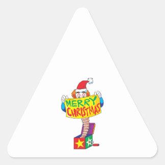 Felices Navidad de encargo Jack en un Pin del Pegatina Trianguladas Personalizadas
