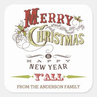Felices Navidad de encargo usted pegatina del día