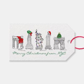 Felices Navidad de etiquetas de los días de fiesta Etiquetas Para Regalos