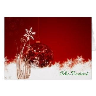 Felices Navidad de Feliz Navidad en chucherías esp Tarjetón