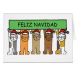 Felices Navidad de Feliz Navidad en español Tarjeta De Felicitación