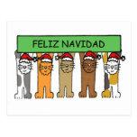 Felices Navidad de Feliz Navidad en español Tarjetas Postales