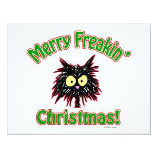 """Felices Navidad de Freakin Invitación 4.25"""" X 5.5"""""""