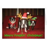 ¡Felices Navidad de Freakin! Tarjeta De Felicitación