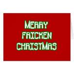 Felices Navidad de Fricken Tarjeton