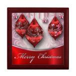 Felices Navidad de Giftbox Joyero Cuadrado Grande
