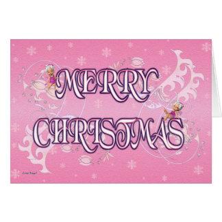 Felices Navidad de hadas Tarjeta De Felicitación