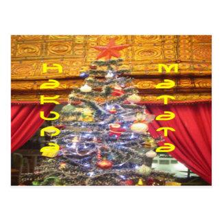 Felices Navidad de Hakuna Matata y un nuevo Year.p Postal