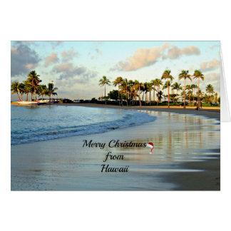 Felices Navidad de Hawaii Tarjetas