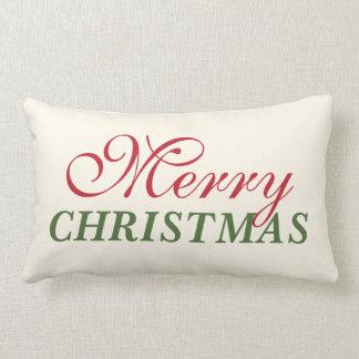 Felices Navidad de la almohada de tiro del día de