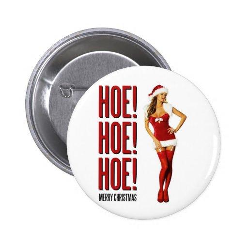 Felices Navidad de la azada de la azada de la azad Pin Redondo 5 Cm