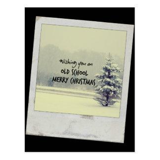 Felices Navidad de la escuela vieja Tarjetas Postales