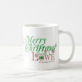 Felices Navidad de la familia de Lowe Taza De Café