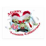 Felices Navidad de la familia del zombi Postales