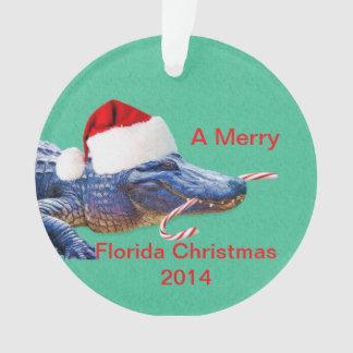Felices Navidad de la Florida con el cocodrilo