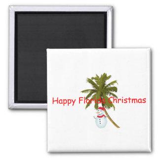 Felices Navidad de la Florida Imán Cuadrado