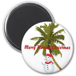 Felices Navidad de la Florida Imán Redondo 5 Cm