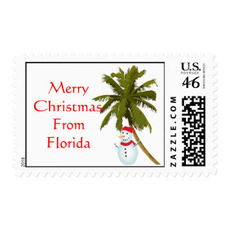 Felices Navidad de la Florida muñeco de nieve deb