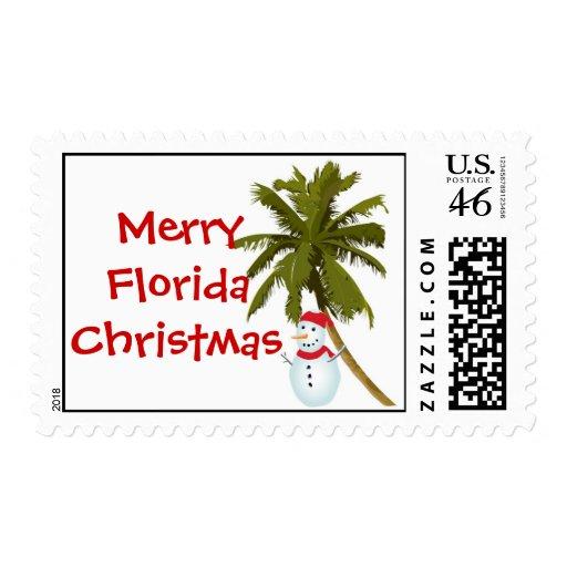 Felices Navidad de la Florida, muñeco de nieve deb Franqueo