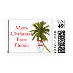 Felices Navidad de la Florida, muñeco de nieve Franqueo