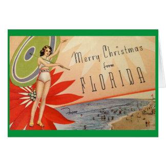 ¡Felices Navidad de la Florida! Tarjeta De Felicitación