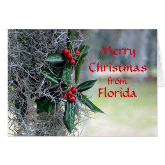 Felices Navidad de la Florida Tarjeta De Felicitación