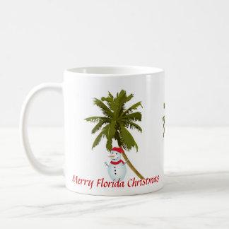 Felices Navidad de la Florida Taza De Café